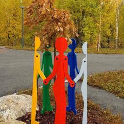 kuhmoisten kunnan värikäs viisikko puunrunosuoja