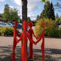 punainen-ystävä puunsuoja